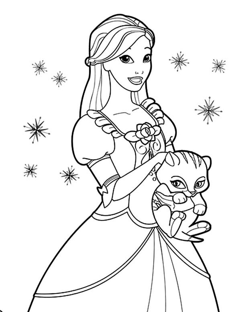 Princess Colouring Pages Disney