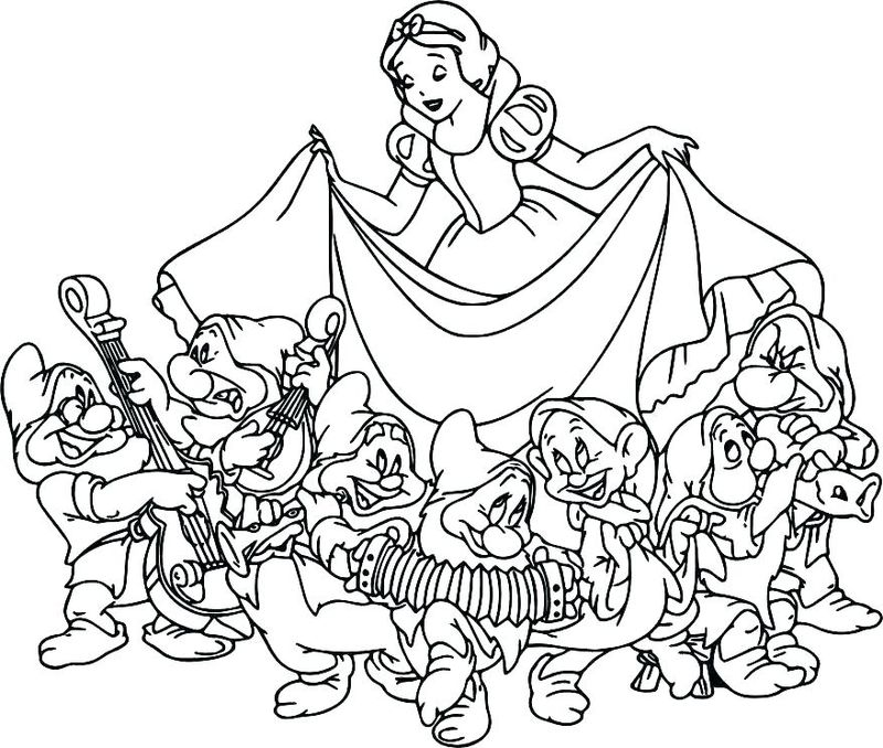 Print Snow White Coloring Pages