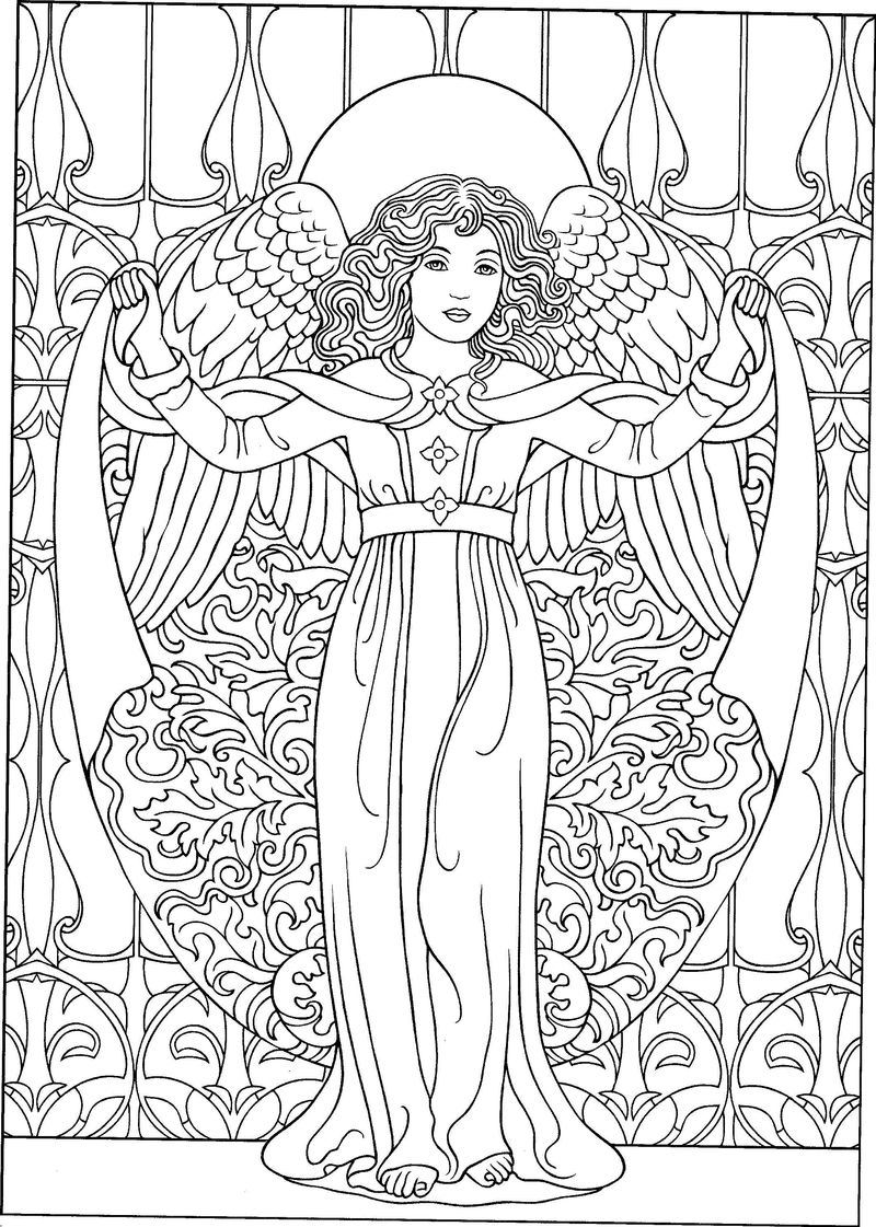 Printable Christmas Angel Coloring Pages