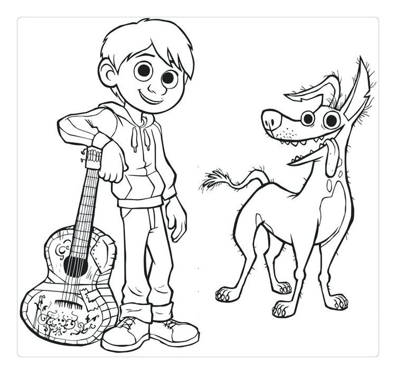 Printable Coco Coloring Pages