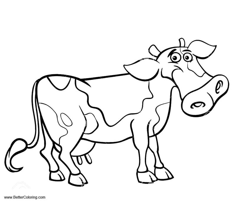 Printable Coloring Pages Cow