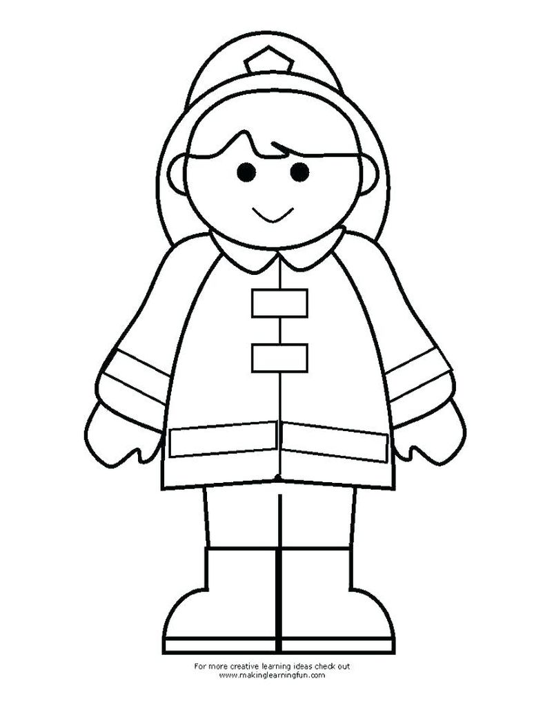 Printable Coloring Pages Fireman