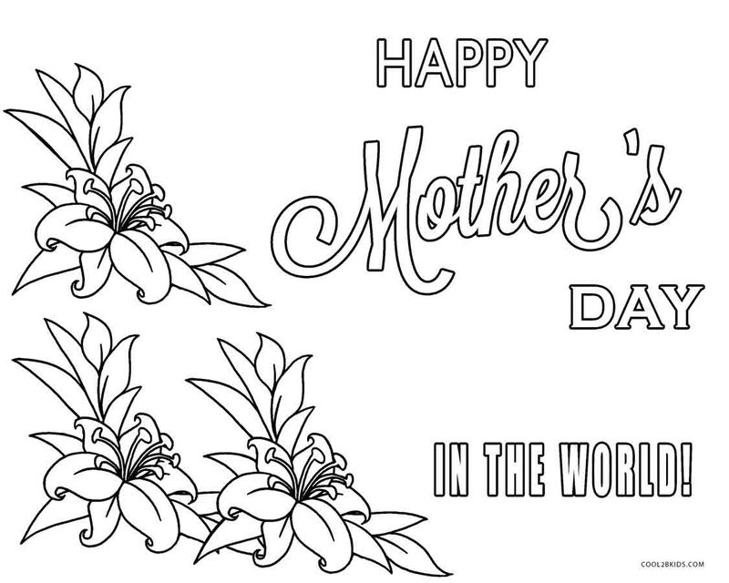 Printable Coloring Pages Mothers Day