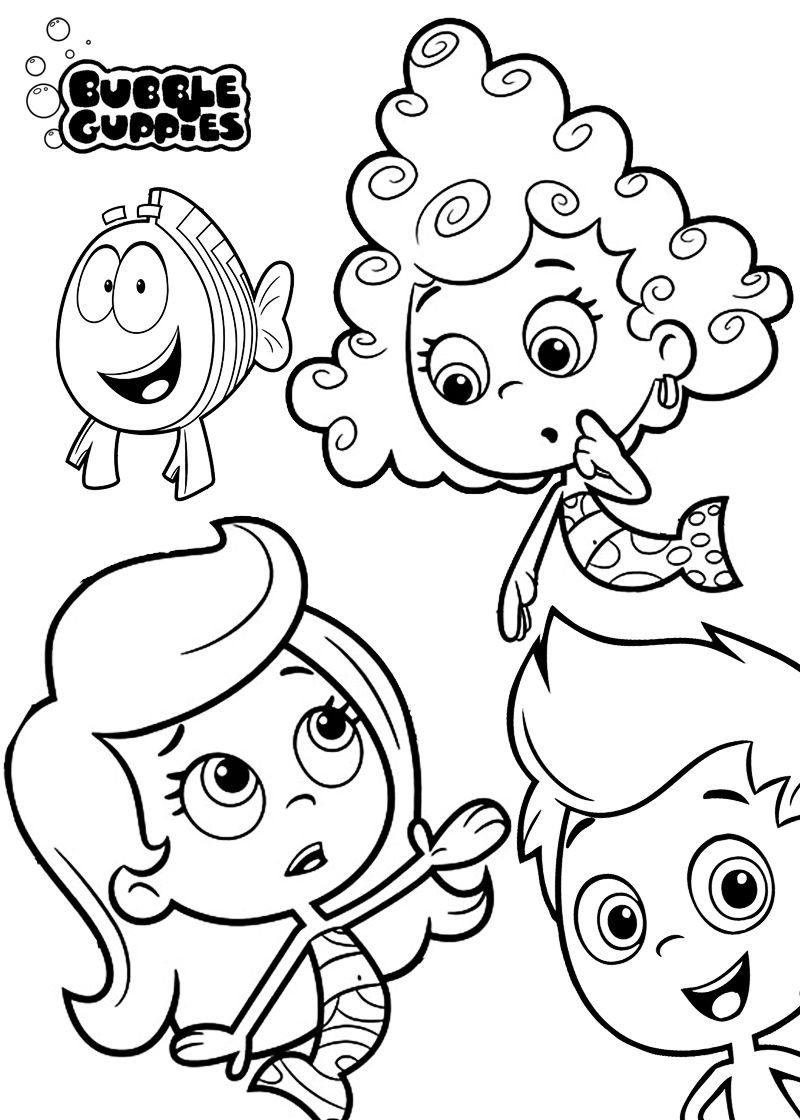 Printable Coloring Pages Of Bubble Guppies