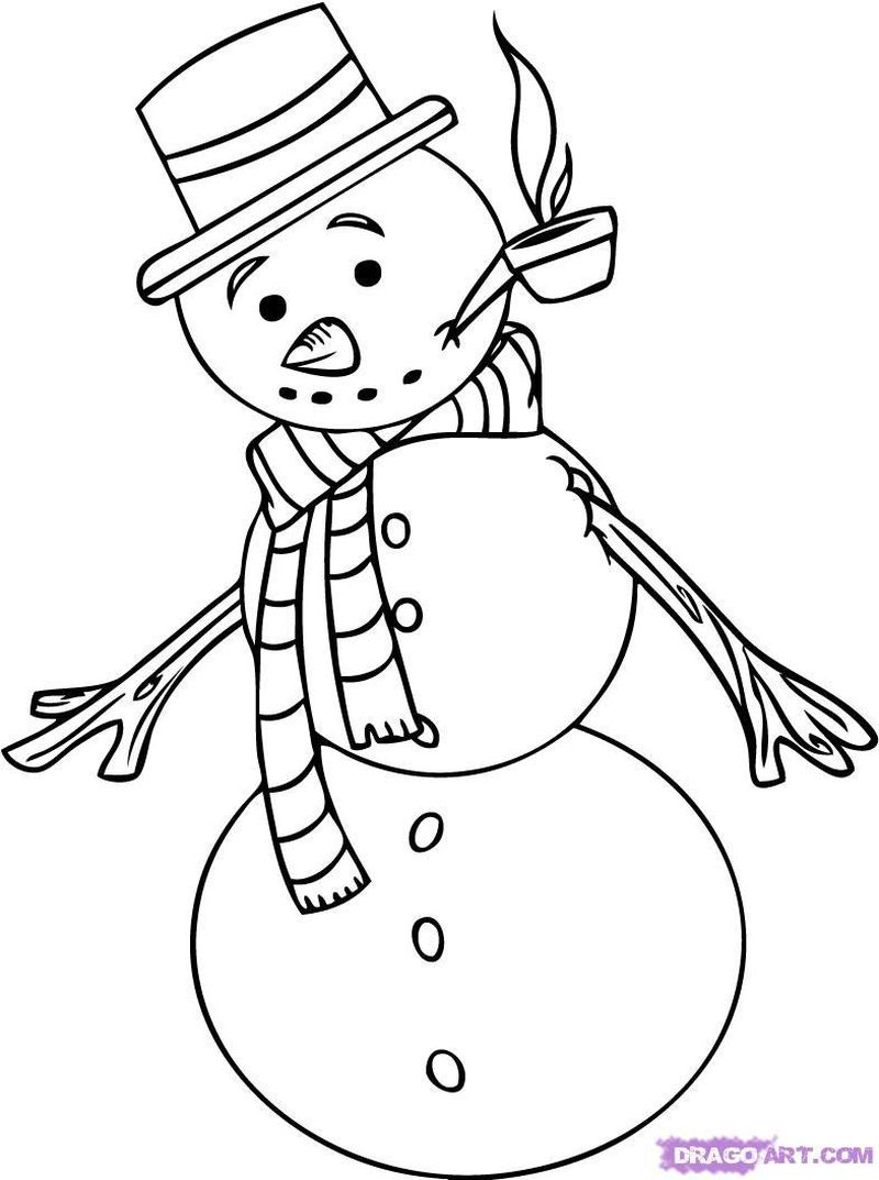 Printable Coloring Pages Of Snowman