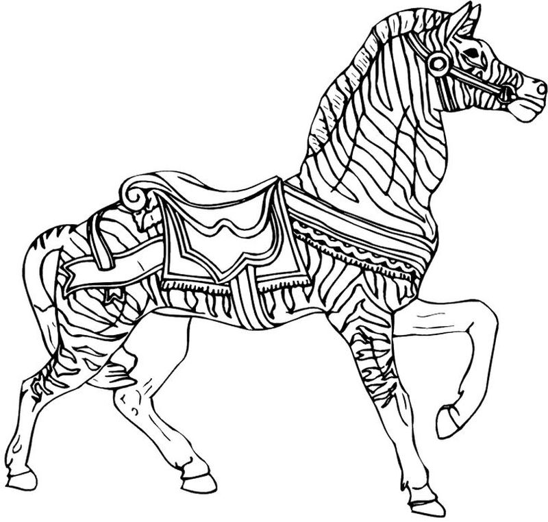 Printable Coloring Pages Zebra