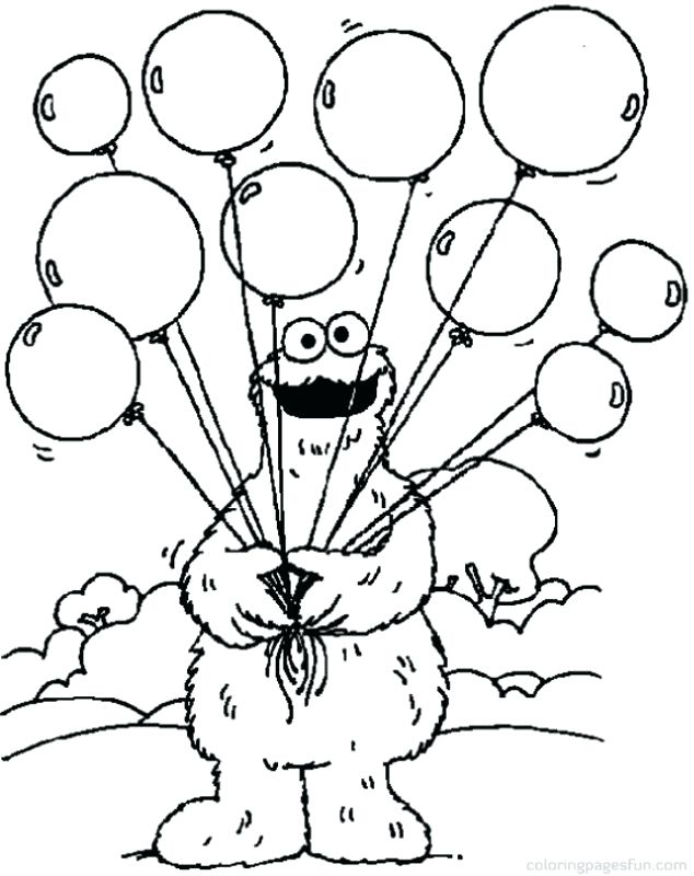 Printable Elmo Birthday Coloring Pages