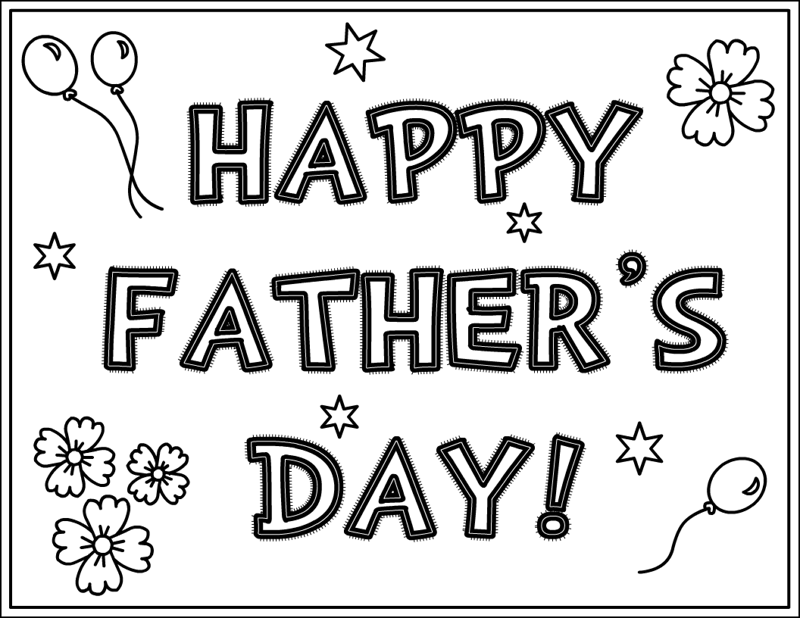 Printable Fathers Day Coloring Pages Kids