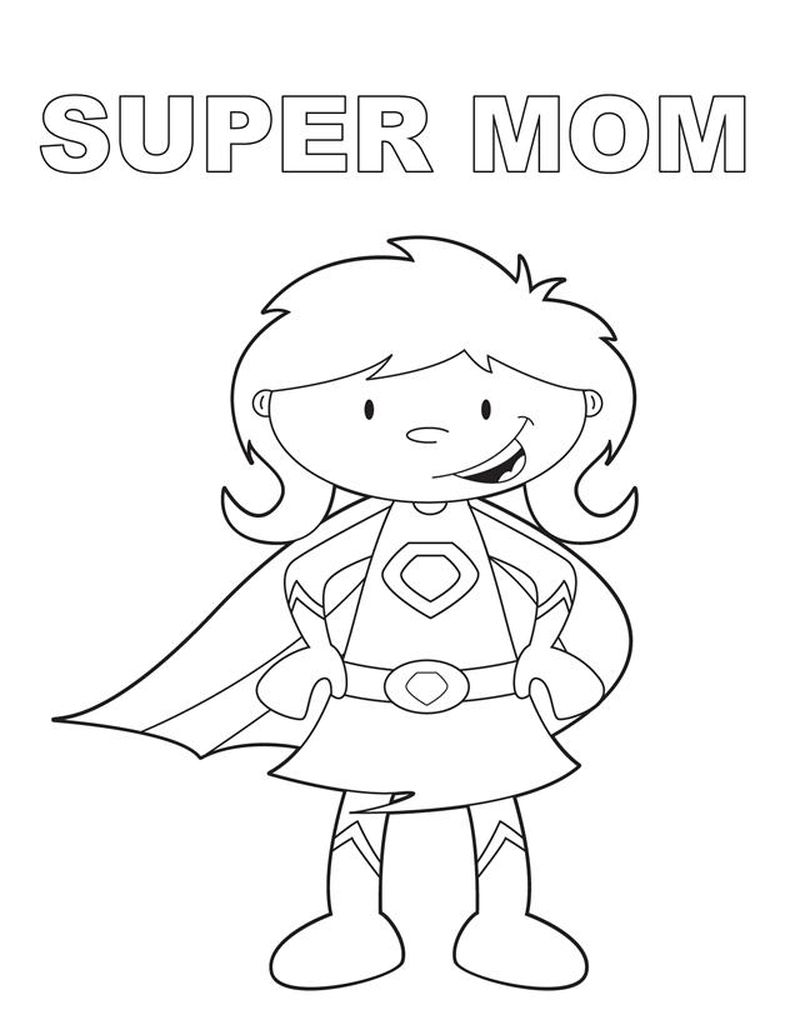 Printable Mothers Day Coloring Pages Grandma