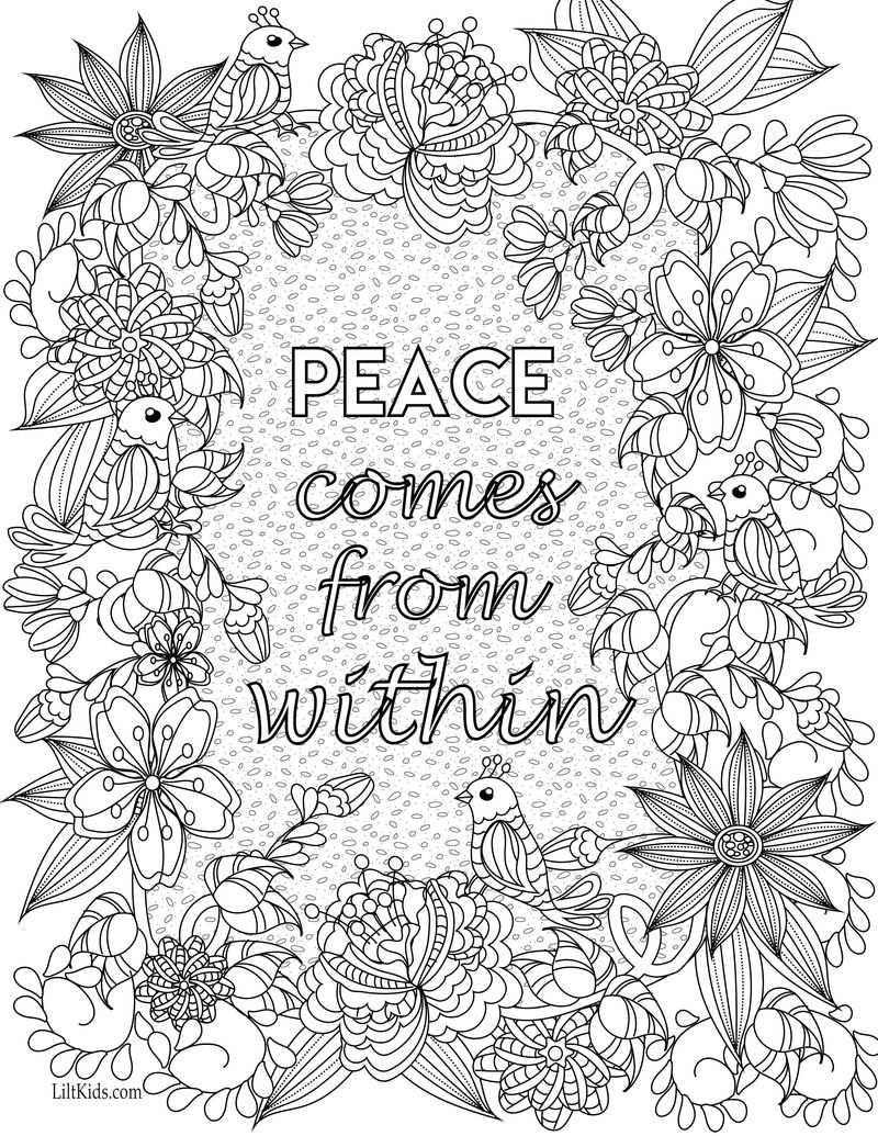 Printable Quote Coloring Pages For Adults