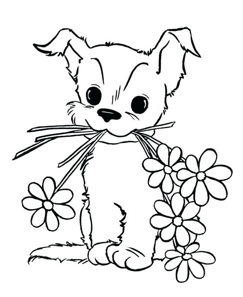 Puppy Coloring Pages Hard