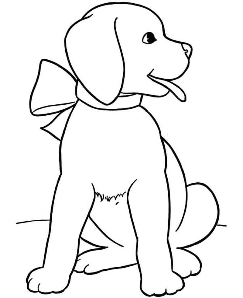 Puppy Coloring Pages To Print Free