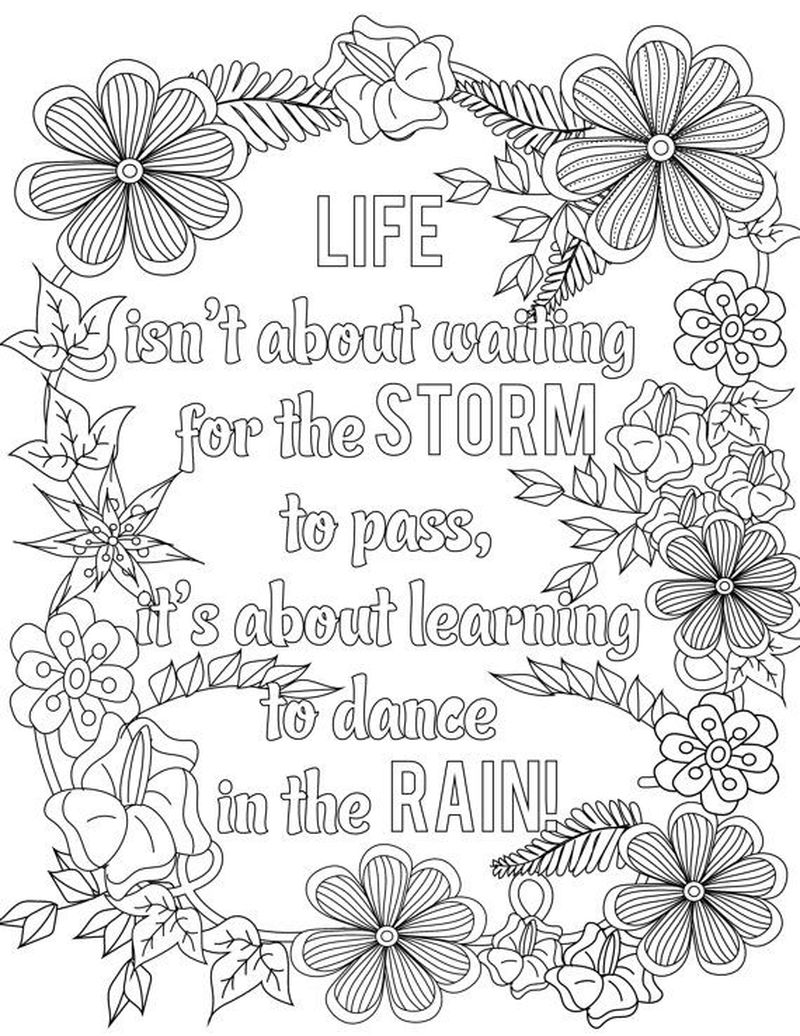 Quote Coloring Pages Adults