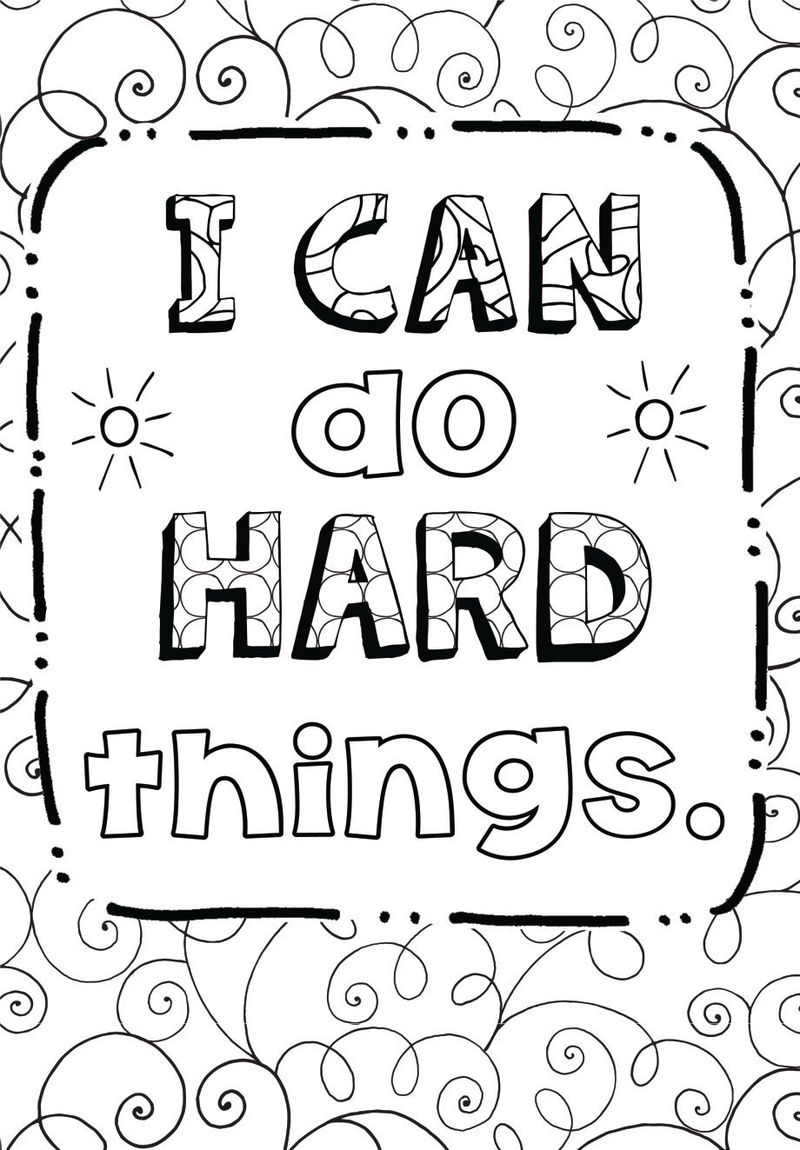 Quote Coloring Pages For Adults To Print