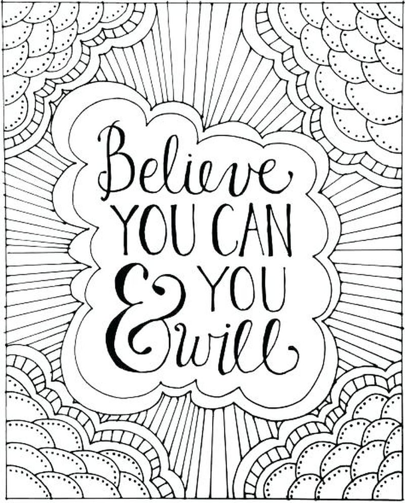 Quote Coloring Pages Free Printable