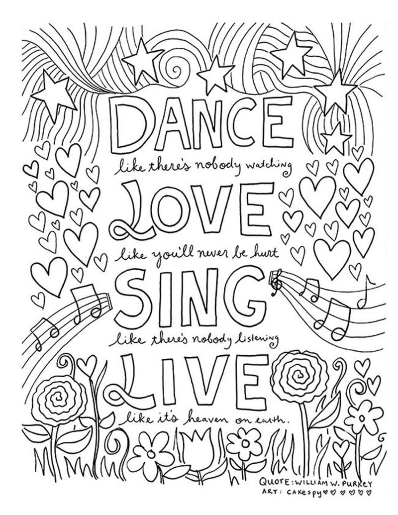 Quote Colouring Pages Free Printable