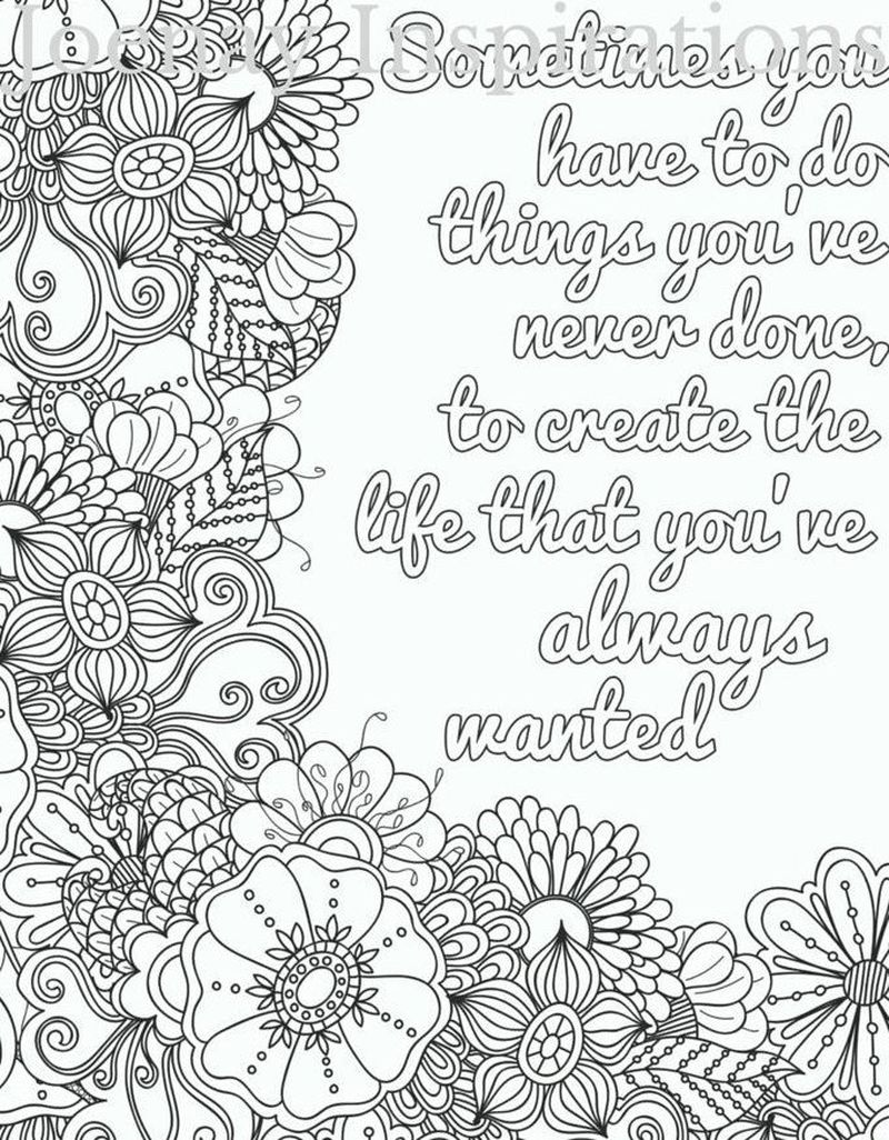 Quotes Colouring Pages For Adults