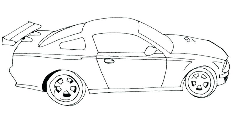 Race Car Coloring Pages Easy