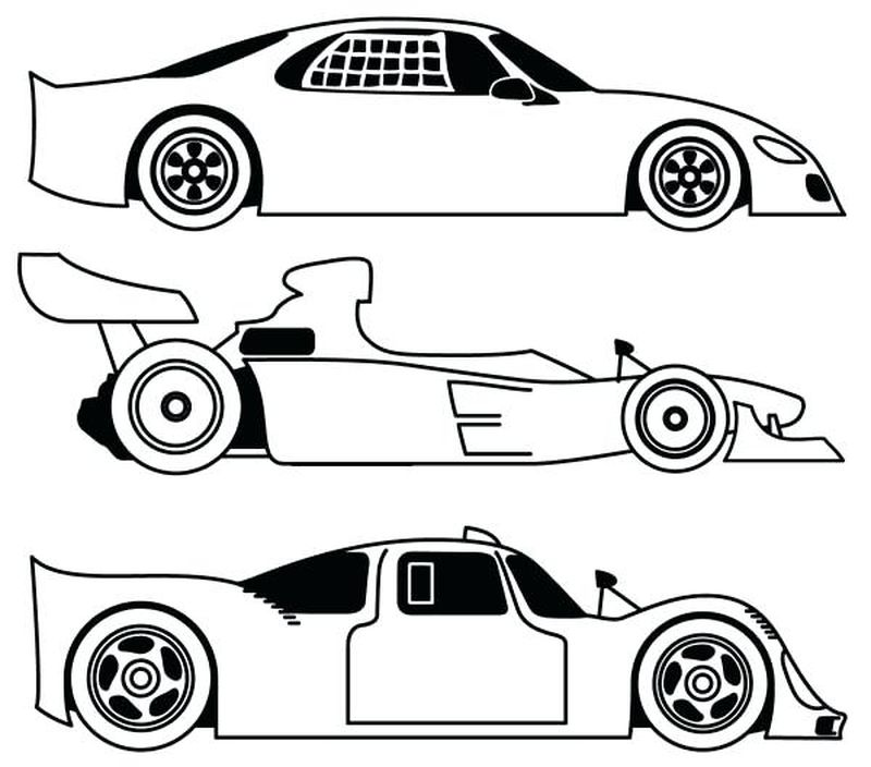 Race Car Coloring Pages For Adults
