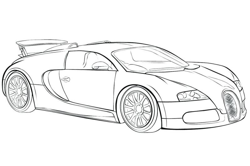 Race Car Coloring Pages For Toddlers