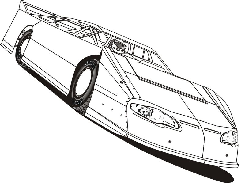 Race Car Coloring Pages Free To Print