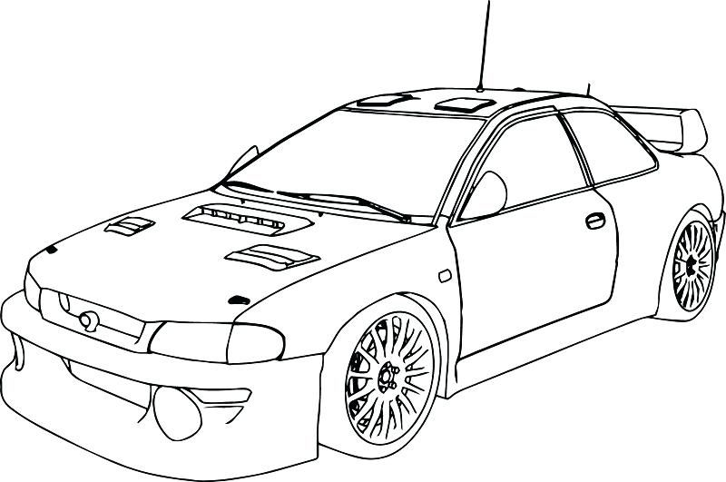 Race Car Coloring Pages To Print