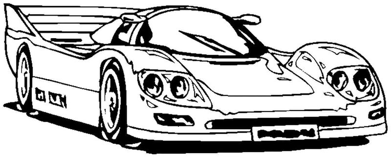 Racing Car Printable Coloring Pages