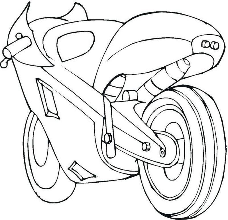 Racing Motorcycle Coloring Pages pdf