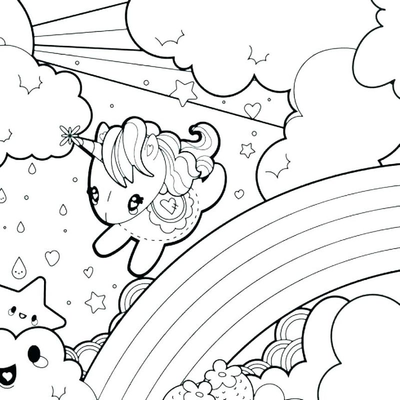 Rainbow Coloring Pages Easy