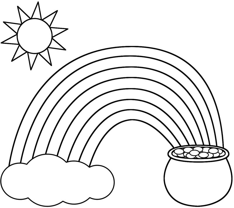 Rainbow Coloring Pages For Toddlers