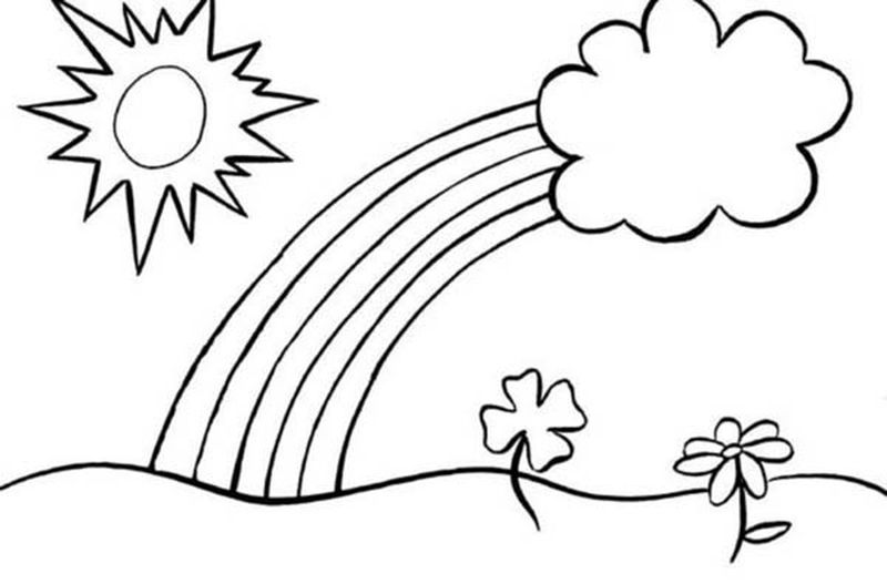 Rainbow Coloring Pages Images