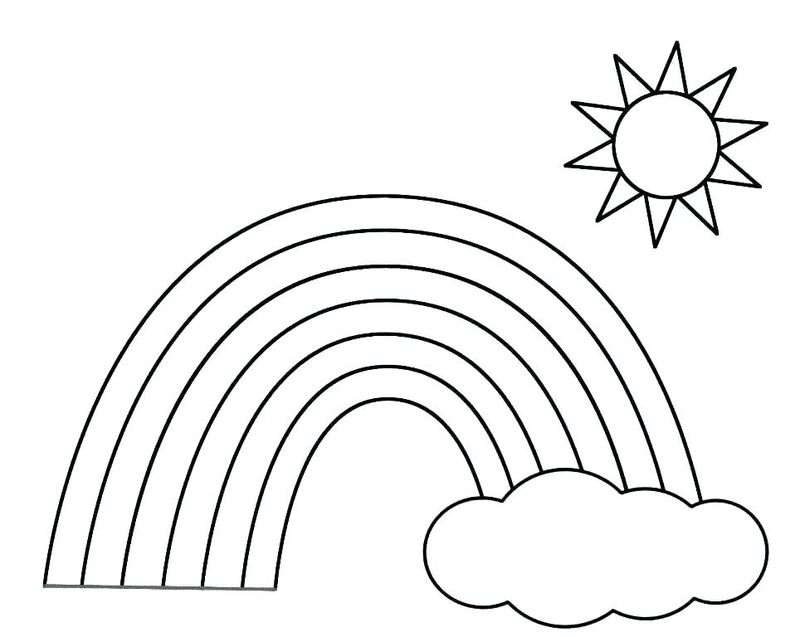 Rainbow Coloring Pages To Print