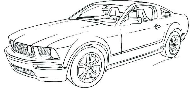 Real Car Coloring Pages