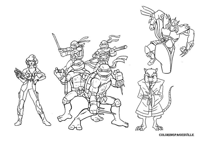 Red Ninja Turtle Coloring Page