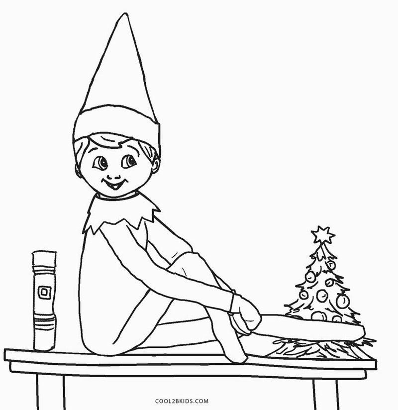 Reindeer And Elf Coloring Pages
