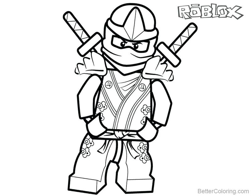 Roblox Christmas Coloring Pages
