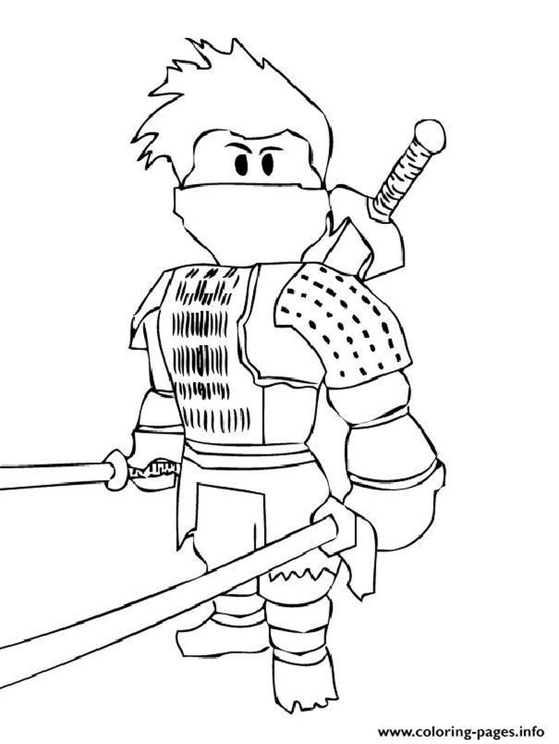 Roblox Coloring Pages Free Printable