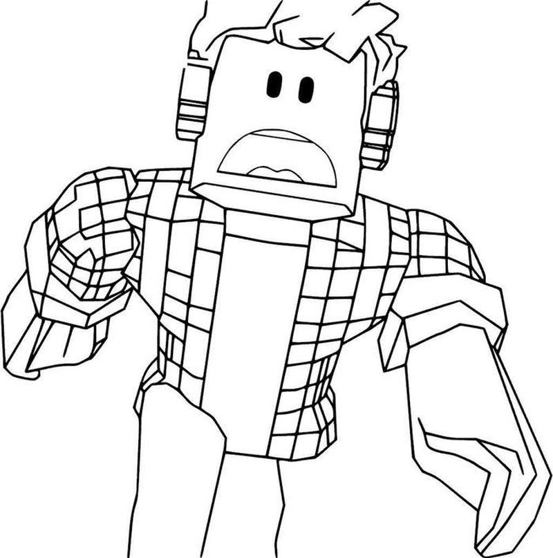 Roblox Coloring Pages Jailbreak