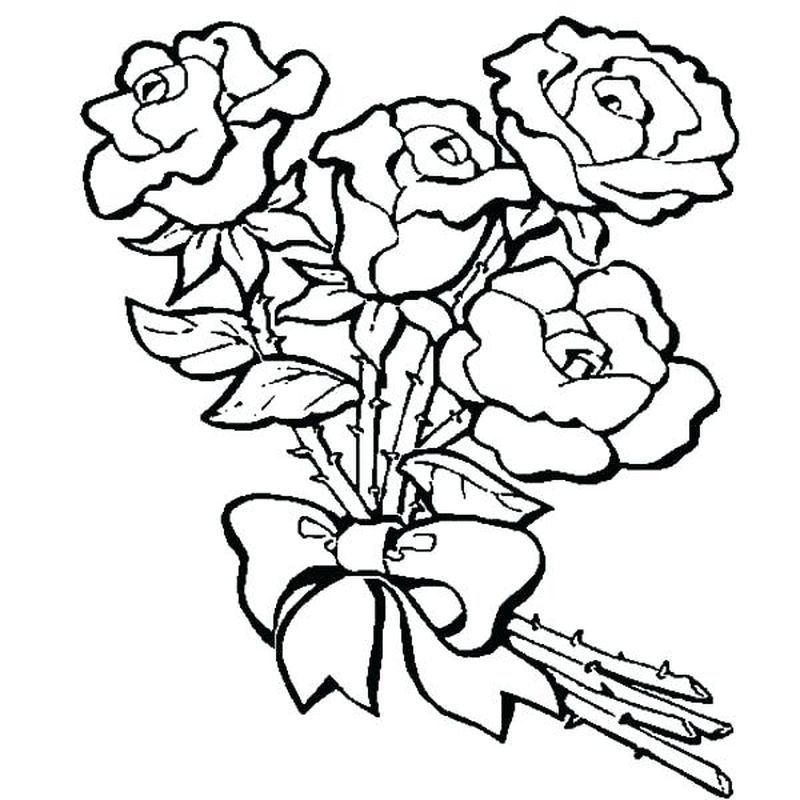Rose Coloring Pages Images