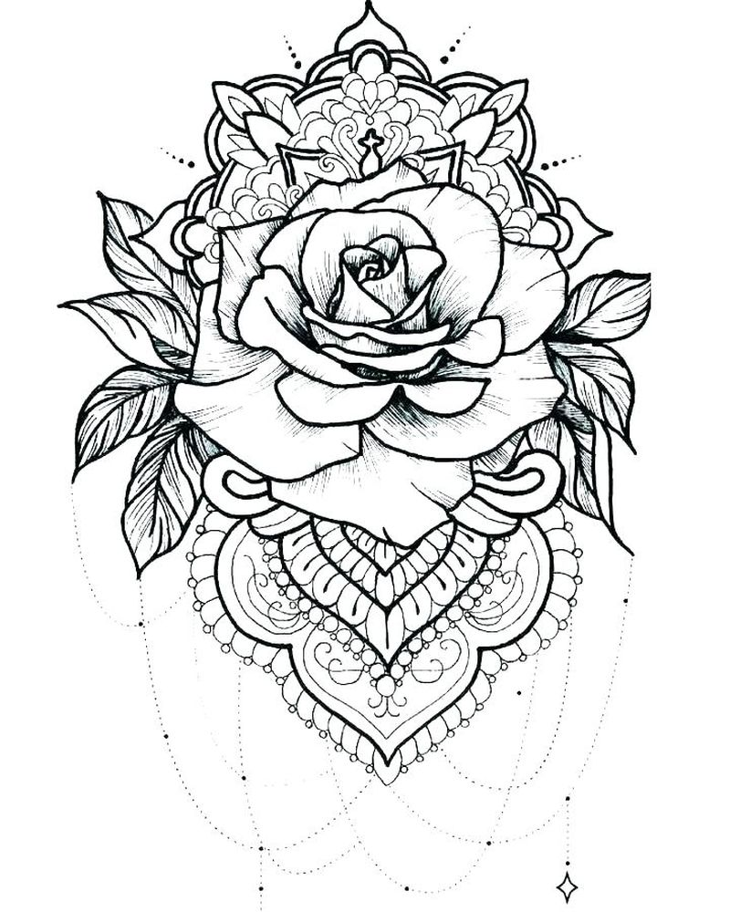 Rose Coloring Pages Online