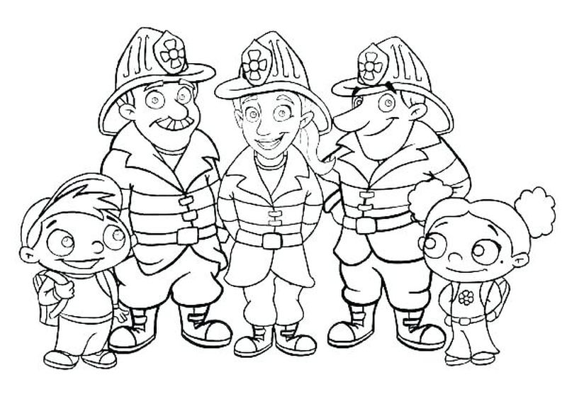Sammy The Fireman Coloring Pages