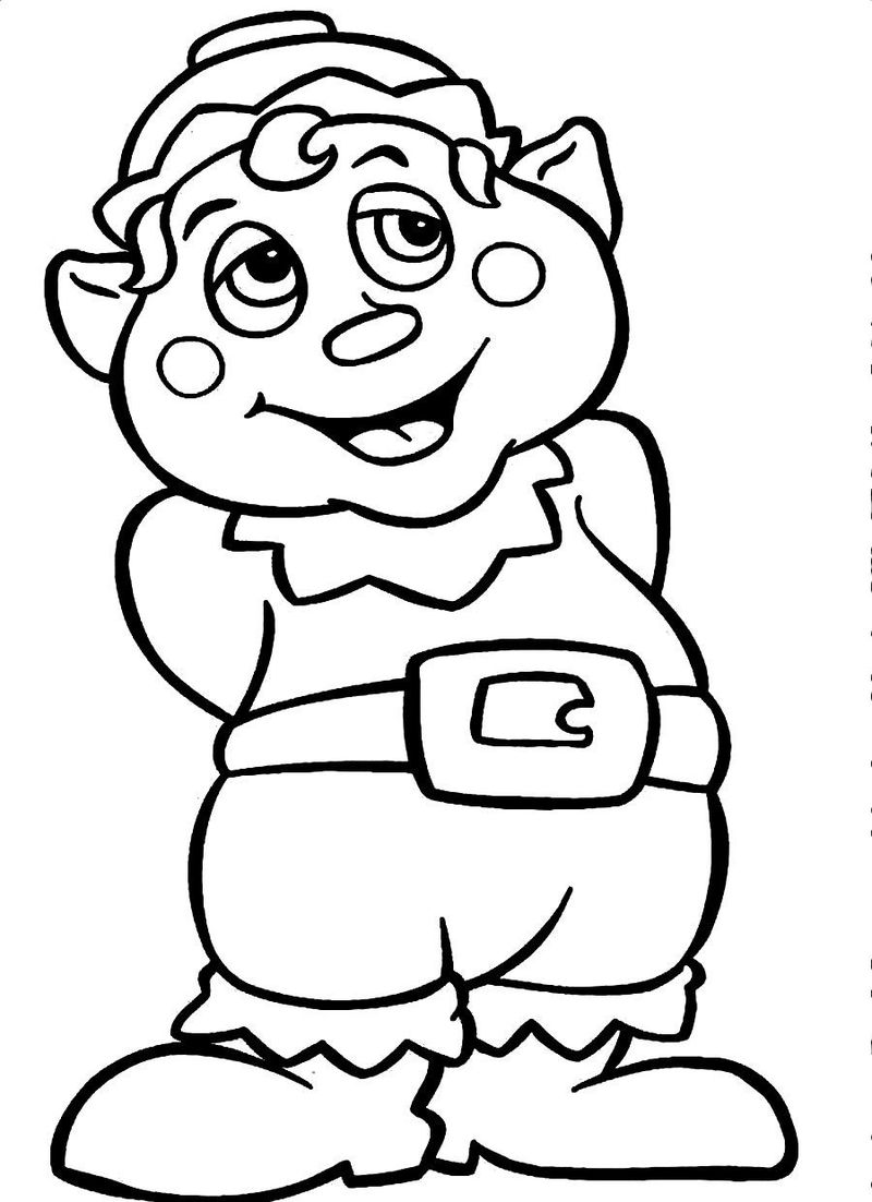 Santa Claus And Elf Coloring Pages