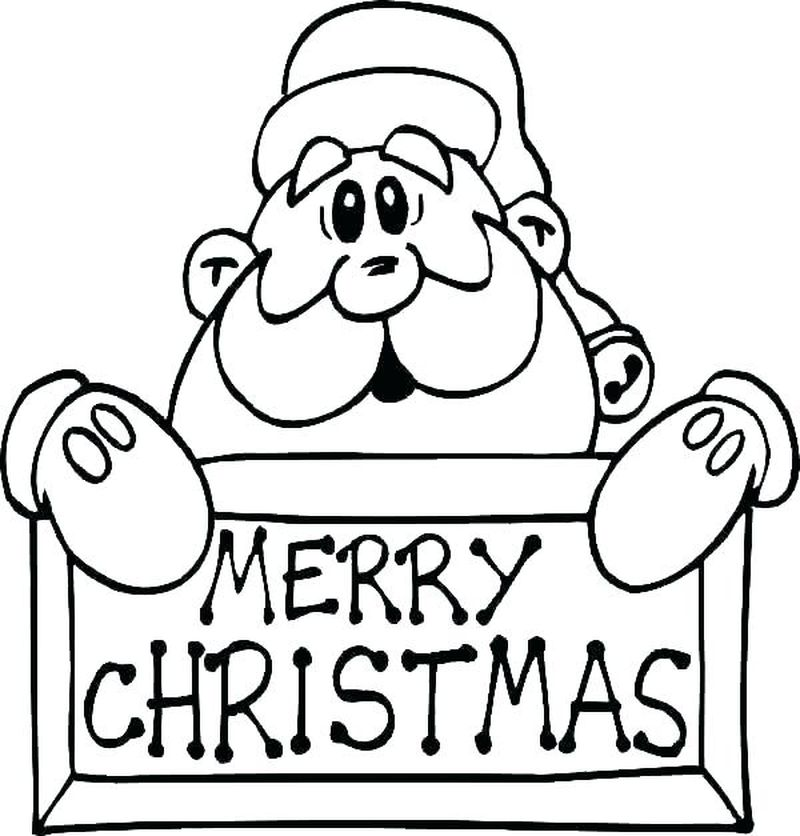 Santa Claus And His Sleigh Coloring Pages