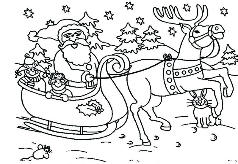 Santa Claus And Mrs Claus Coloring Pages