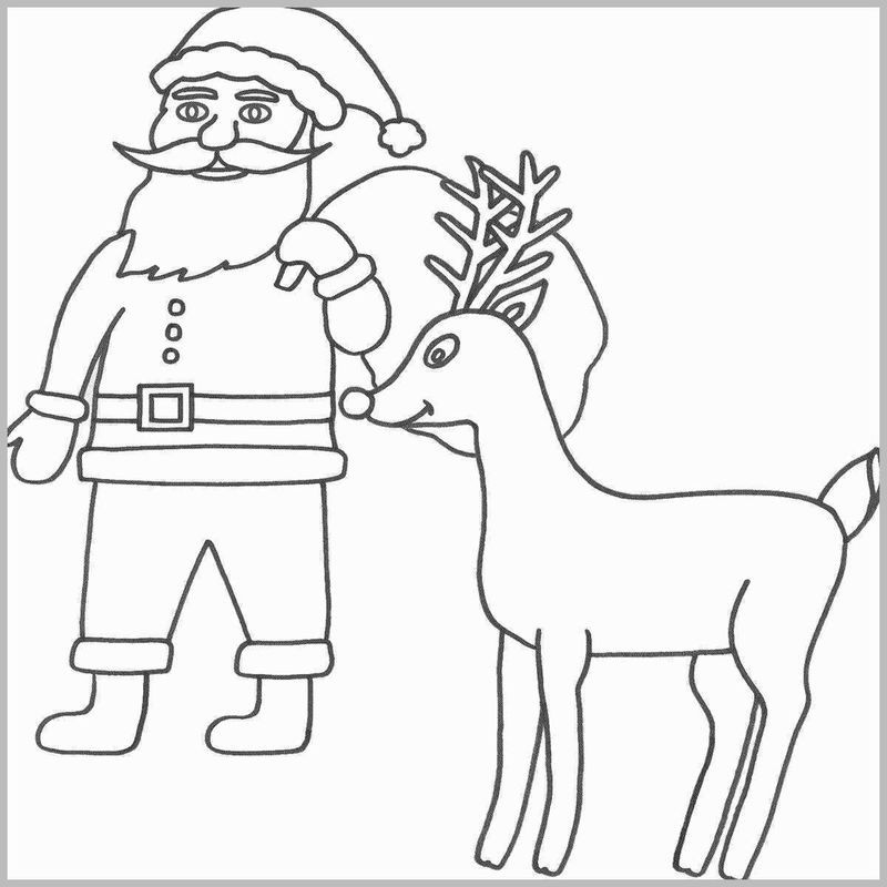 Santa Claus And Rudolph Coloring Pages