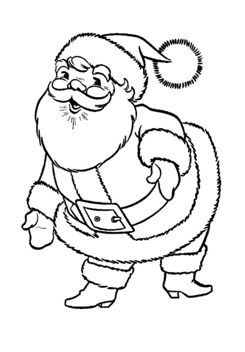 Santa Claus Coloring Pages Difucult