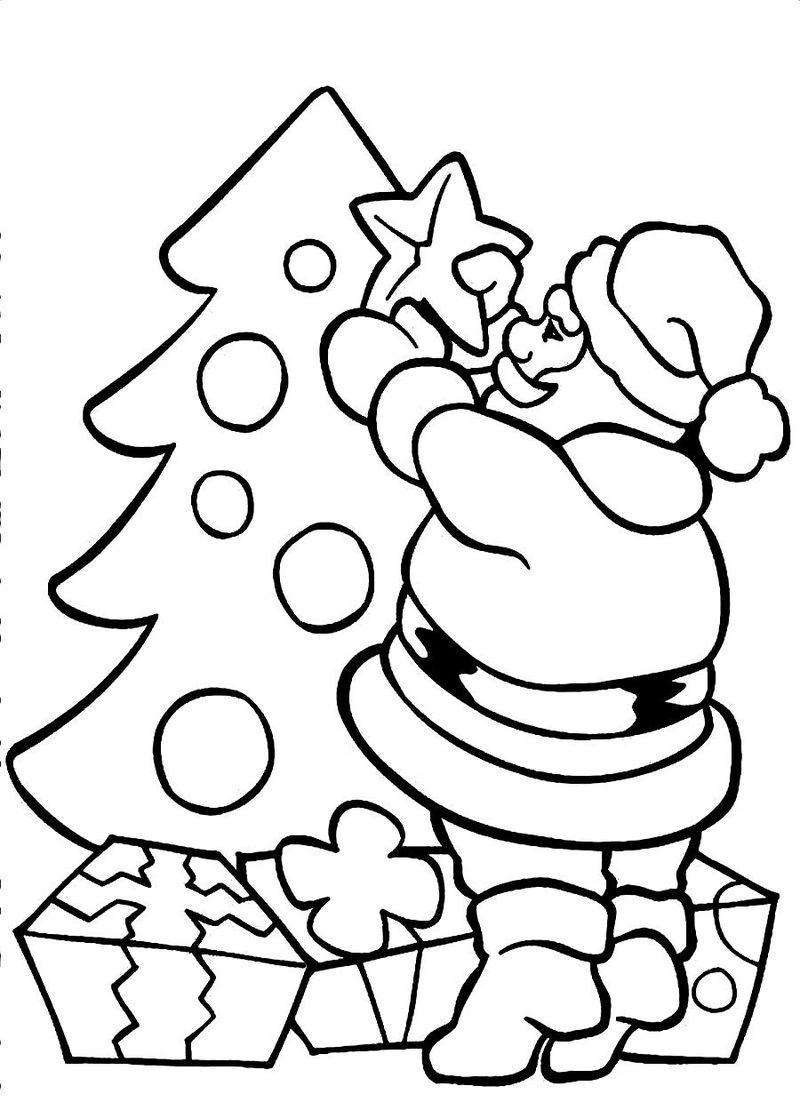 Santa Claus Coloring Pages For Kindergarten