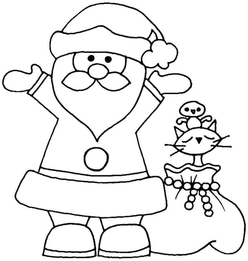 Santa Claus Coloring Pages For Toddlers