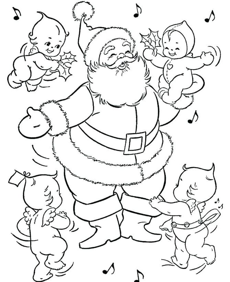 Santa Claus Colouring Pages Printable