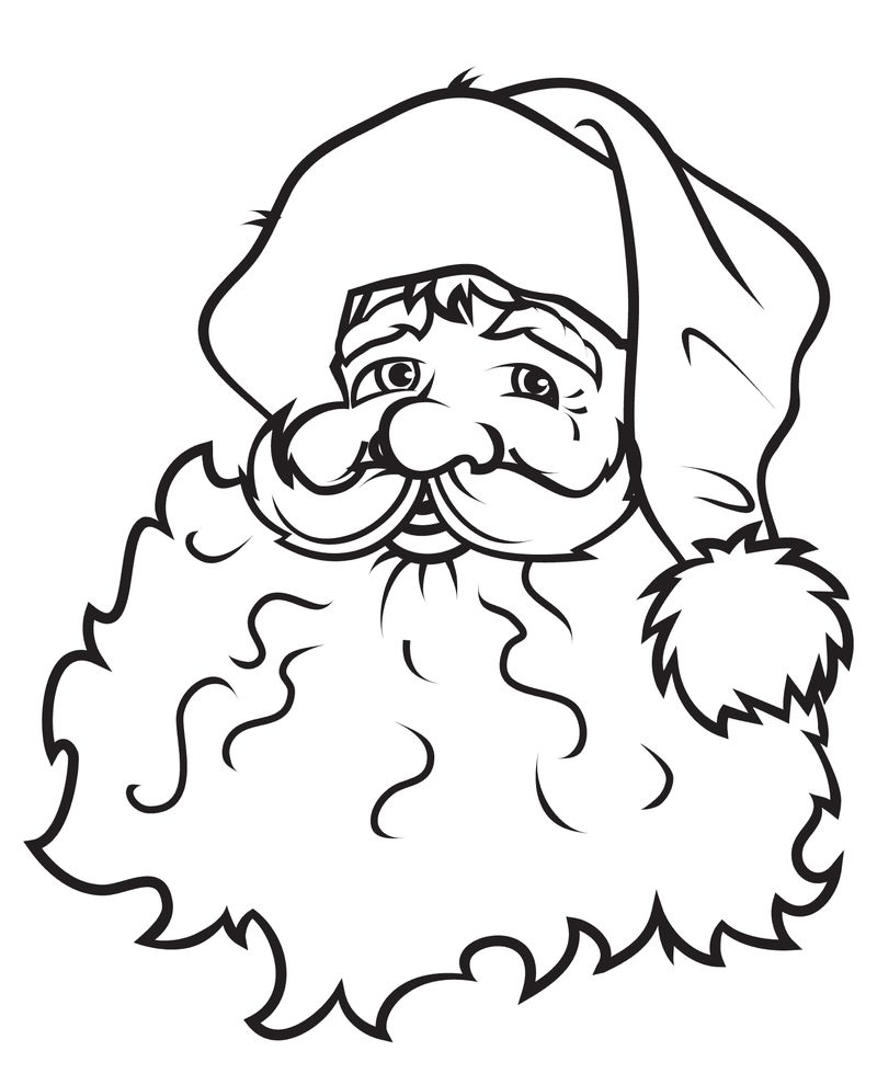 Santa Claus Colouring Pages To Print